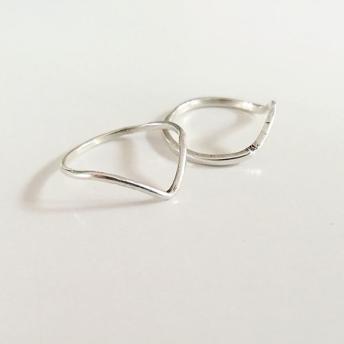 unique handcrafted sterling silver chevron stacking rings Israel Jerusalem