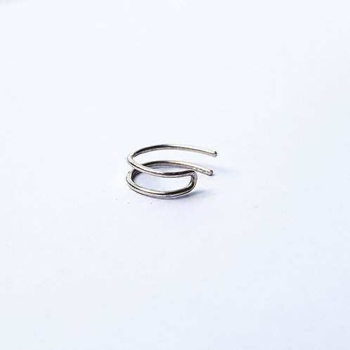 unique handcrafted sterling silver double band ear cuff