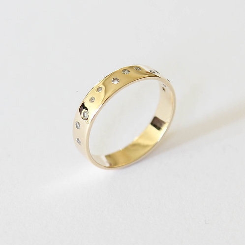 Louise Band with Scattered Diamonds