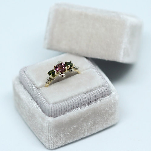 Tourmaline Two Tone Ring