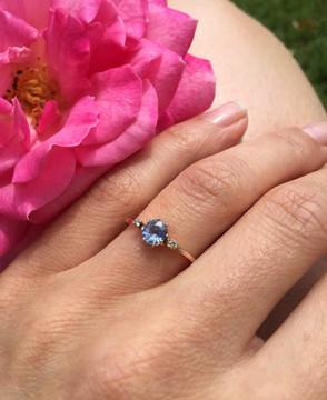 Bespoke Oval Ceylon Sapphire Engagement Ring