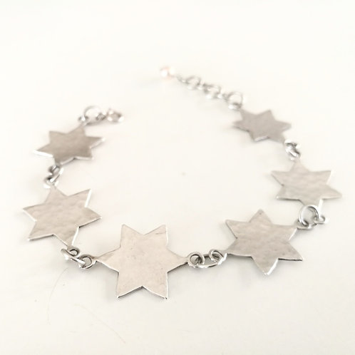 unique handcrafted sterling silver star of david bracelet Israel Jerusalem