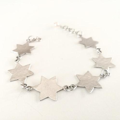 unique handcrafted sterling silver star of david bracelet Israel Jerusalem