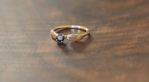 Dark Sapphire Engagement Ring