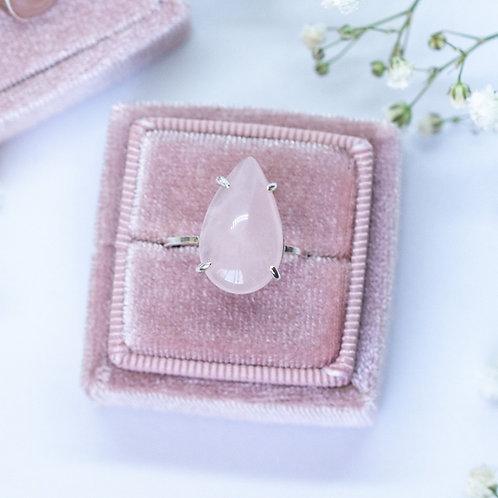 Jasmine Rose Quartz Cocktail Ring