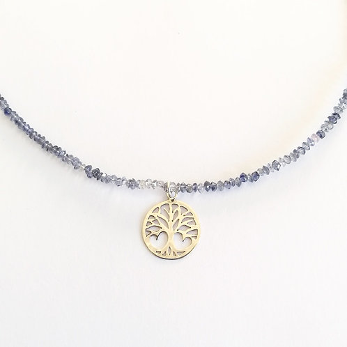 Tree of Life on Tanzanite Necklace
