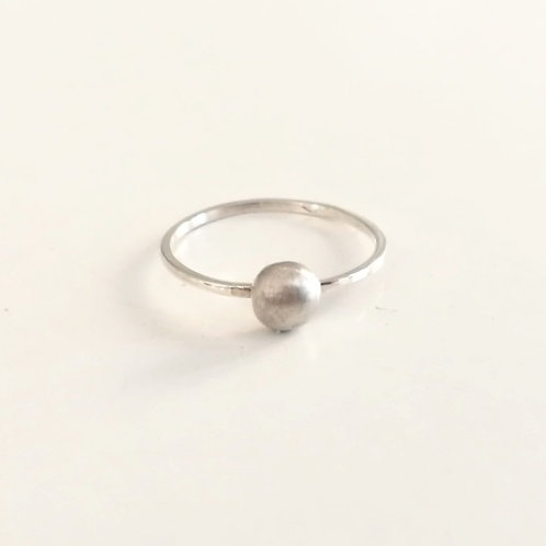 handcrafted unique simple pebble dot stacking ring sterling silver Israel Jerusalem
