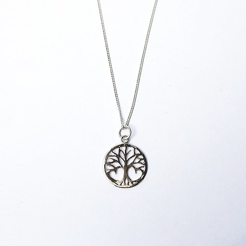 unique handcrafted sterling silver tree of life necklace pendant made in Jerusalem Israel