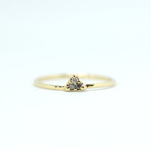 Triangle Diamond Stacking Ring