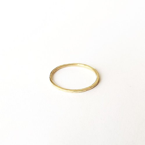 unique handcrafted solid gold stacking wedding ring 1.2 mm Jerusalem Israel