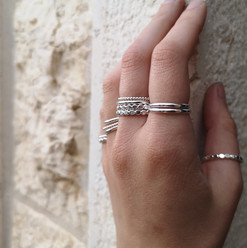 Assorted Silver Stacking Rings