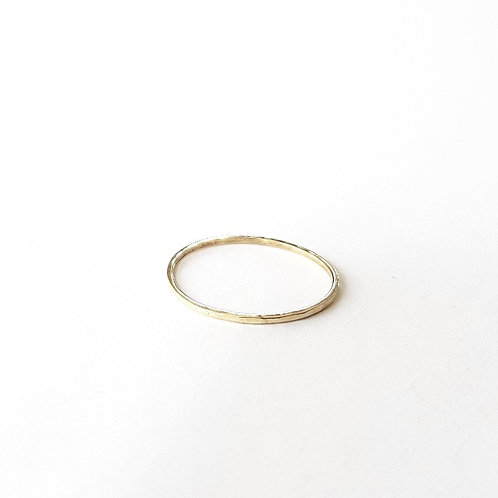 unique handcrafted solid gold stacking wedding ring 0.7 mm Jerusalem Israel