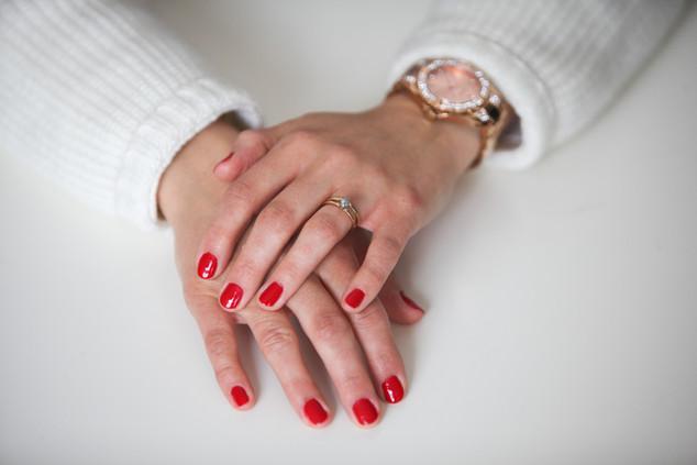 Rough Diamond Engagement & Wedding Ring Set