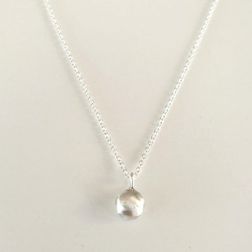Unique handcrafted simple pebble dot stacking necklace Israel Jerusalem