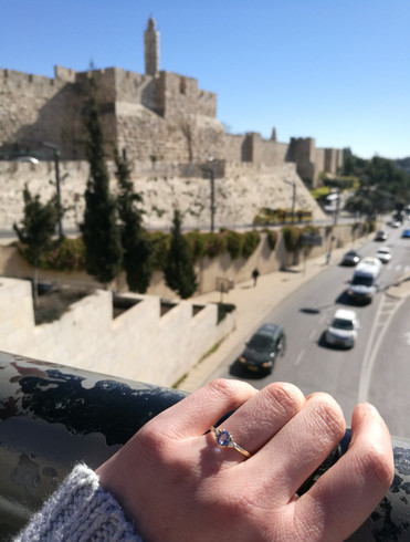 Unique Engagement Ring Handcrafted in Jerusalem