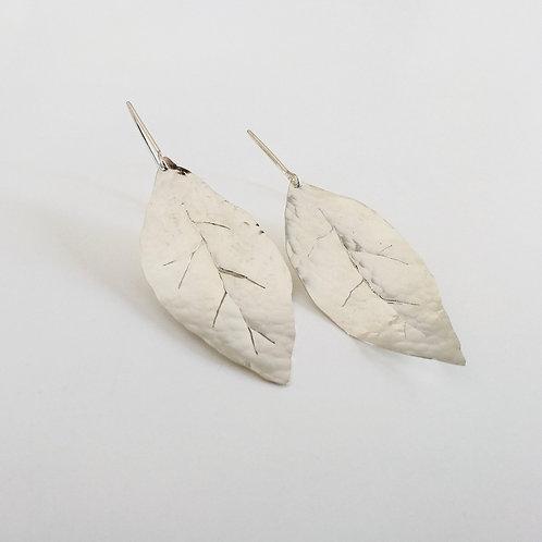Dangle Leaf Earrings, Medium
