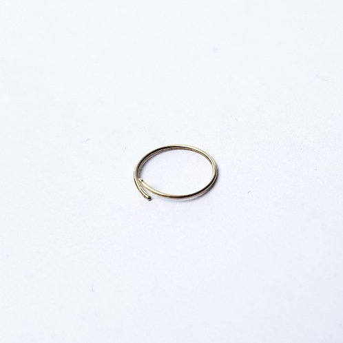 unique handcrafted simple gold nose ring