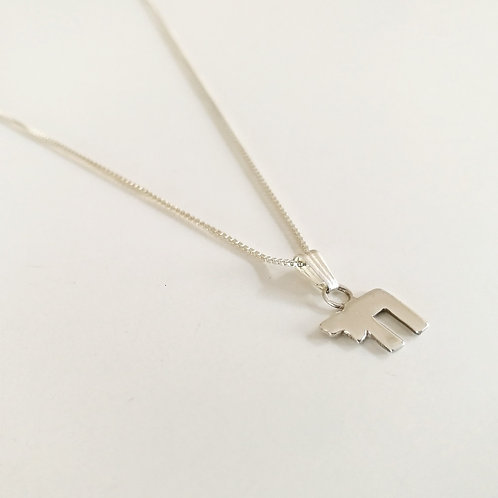 unique handcrafted sterling silver chai necklace pendant hebrew text Jerusalem Israel חי