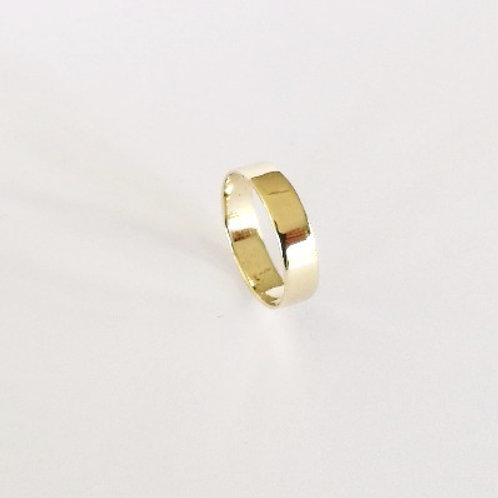 5mm handcrafted gold wedding band ring 14k