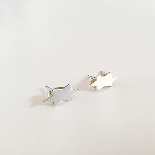 unique handcrafted sterling silver star of david stud earrings Israel Jerusalem
