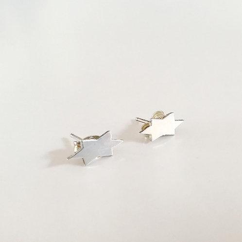 unique handcrafted sterling silver star of david stud earrings Israel Jerusalem