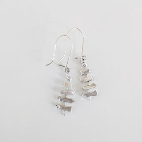 Abstract Earrings, Recycled Silver