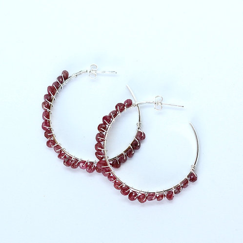 Large Ruby Confetti Hoops