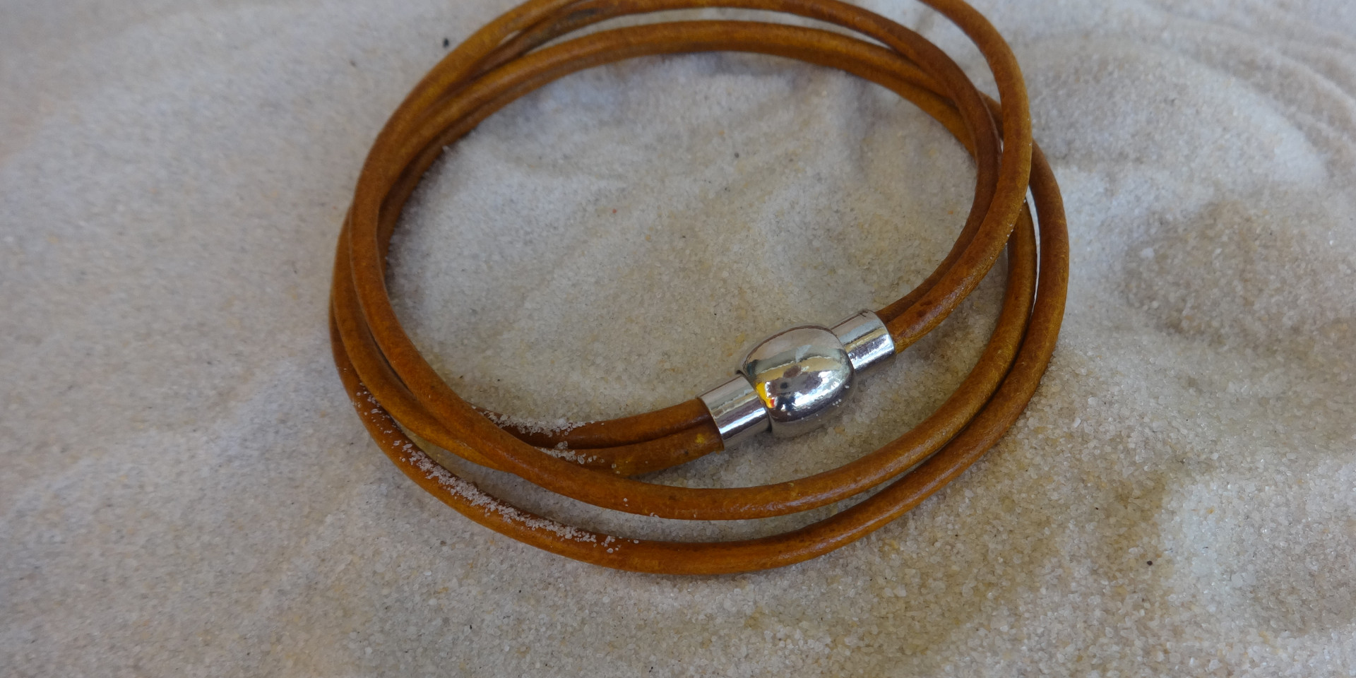 Double wrap two strand bracelet for men