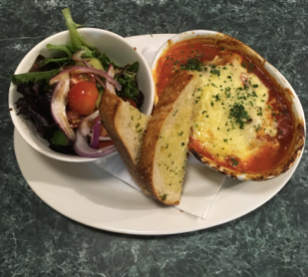 Daily Special: Vegetarian Cannelloni with Salad & Sourdough Toast