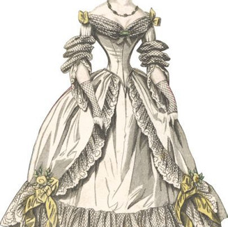 robe à crinoline vertugadin