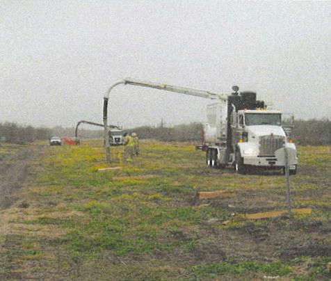 Spotting 30 Inch Gas Line