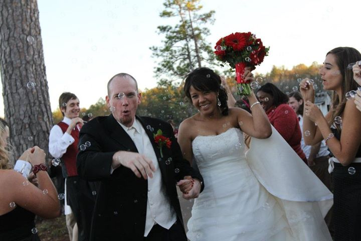 My Man & I At Our Wedding