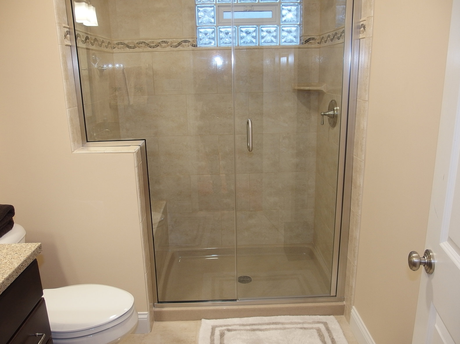 this hydro slide door offers comfort and luxury to your bathroom area