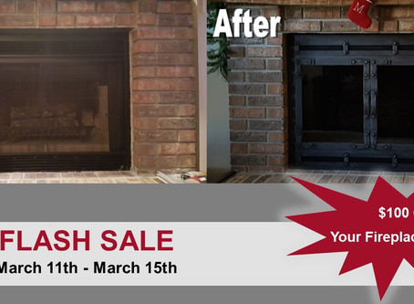 Flash Sale: $100 Off Fireplace Reface Doors