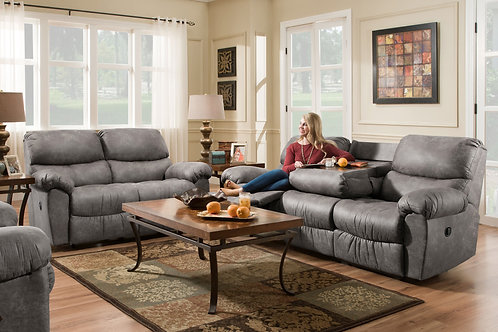 Santa Fe Gray Reclining Living Room set