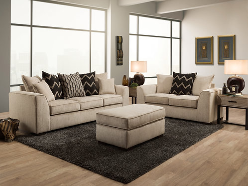 2600 Fawn Sofa and Loveseat