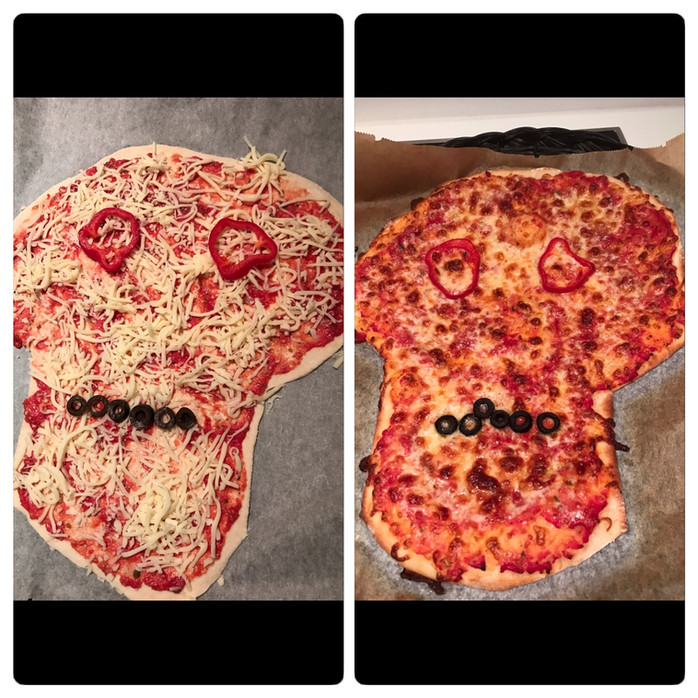 Miljøvennlig halloween med restepizza