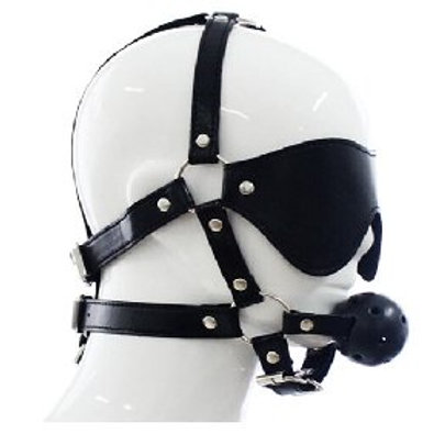 Black Mask with Ball Gag
