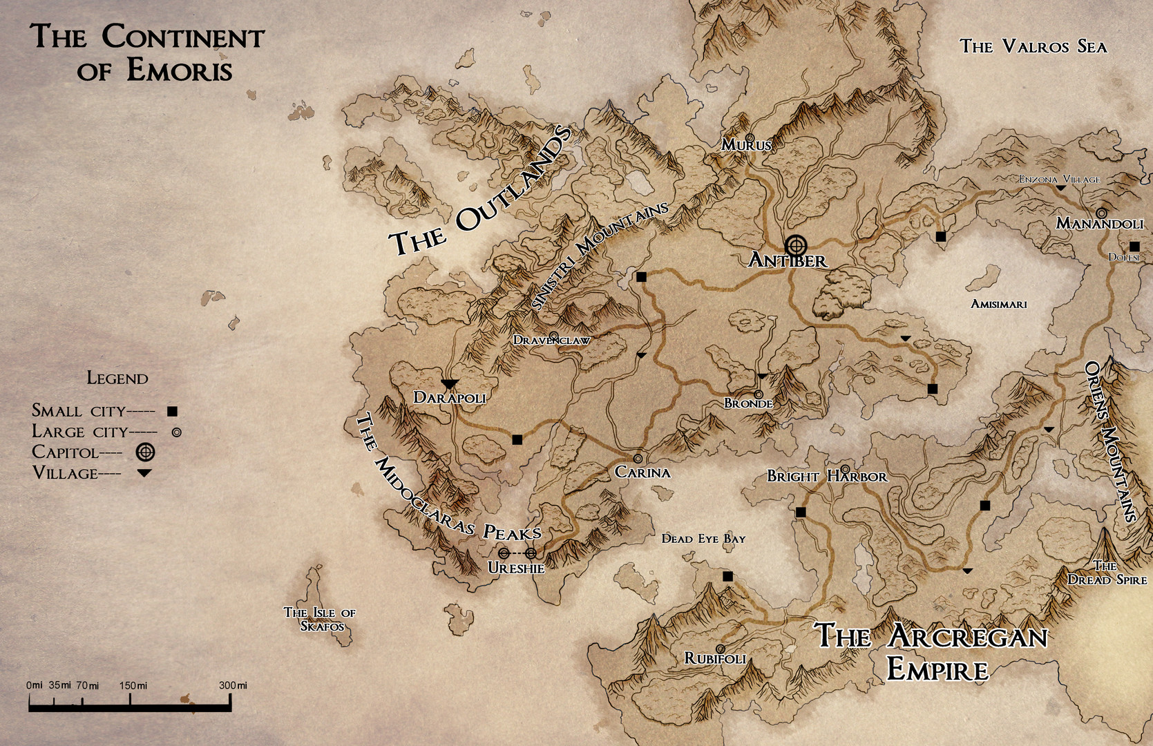 The Continent of Emoris