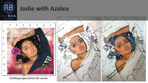 Jodie with Azalea - Learn Portraiture