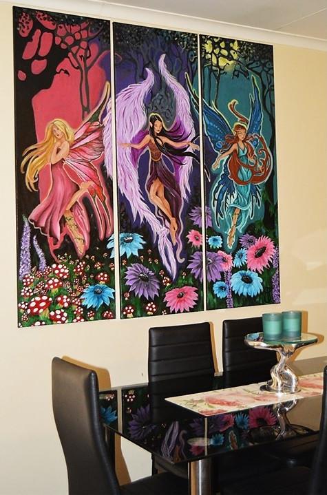 Medium: Acrylics on canvas, Subject: Fantasy