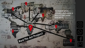 #Red Pin Art Project