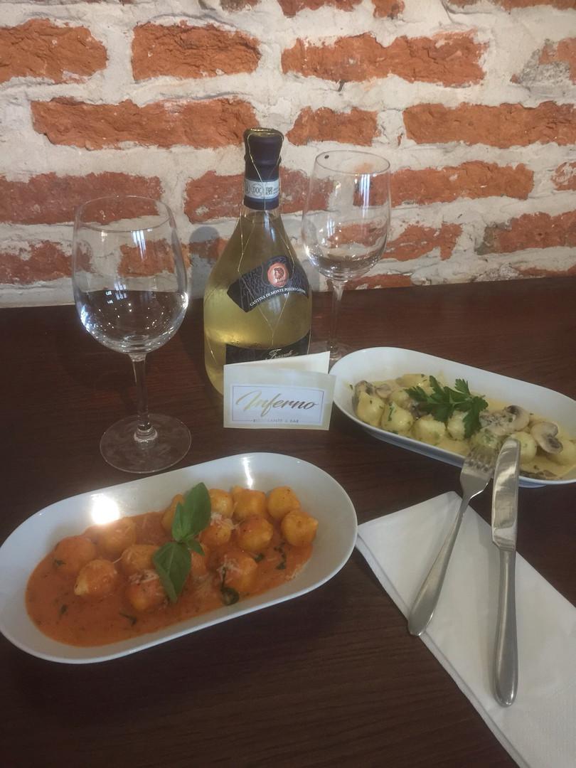 gnocchi with pomodoro or dolce latte sau