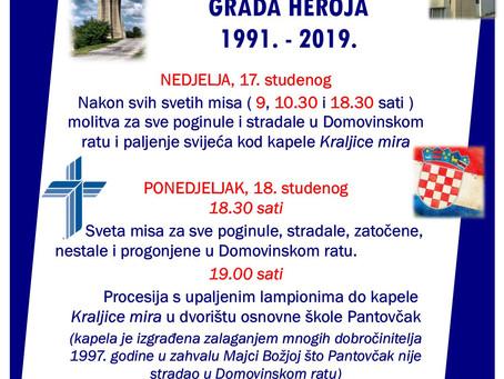 Dan sjećanja na žrtvu grada heroja VUKOVARA