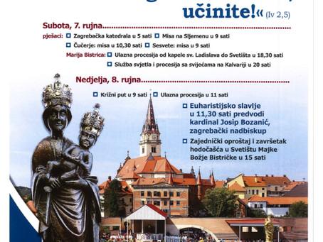 Zagreb hodočasti u Mariju Bistricu