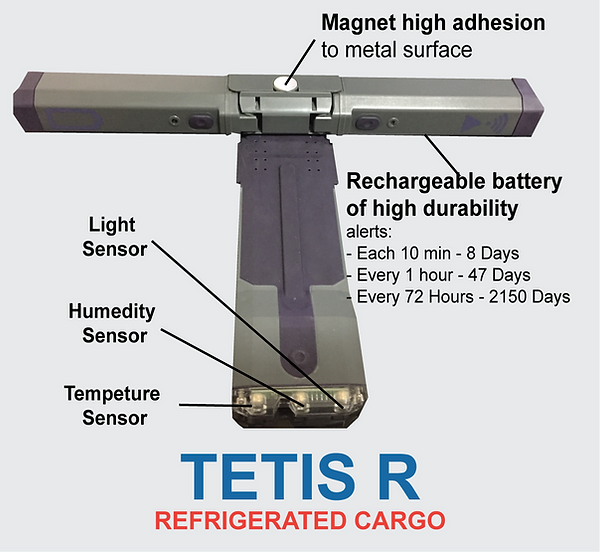 TETIS R, Cargo, Container Tracking, Cargo Tracking, Online Tracking, Shipping Container Tracking, Light sensor, Light sensor for Container, Temperature Sensor, Humidity Sensor, Container Management Solution, GPS, GPRS, GPS Map