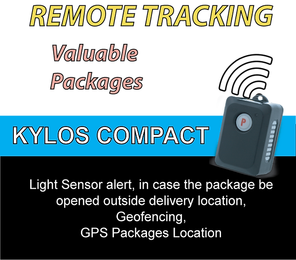 GPS, GPS Location, GPS Satellite Location, GPS Package Location, Sensor Light, Sensor Light+Package Openness Alert, Impact Alert, Package+Impact Alert, Accelerometer+package impact alert,  Starcom Systems, Kylos Compact, Long Life Battery, 45 days continuos operation, Kylos Compact, Starcom Systems, Geofencing, 3G, 4G Connectivity, Cellular Connectivity, Mobile App, Control Center Software, Data Encryption, GSM Data, GPRS Data, SMS Data