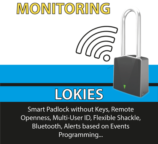 GPS padlock that opens and closing remotely and manages multi-users ID.