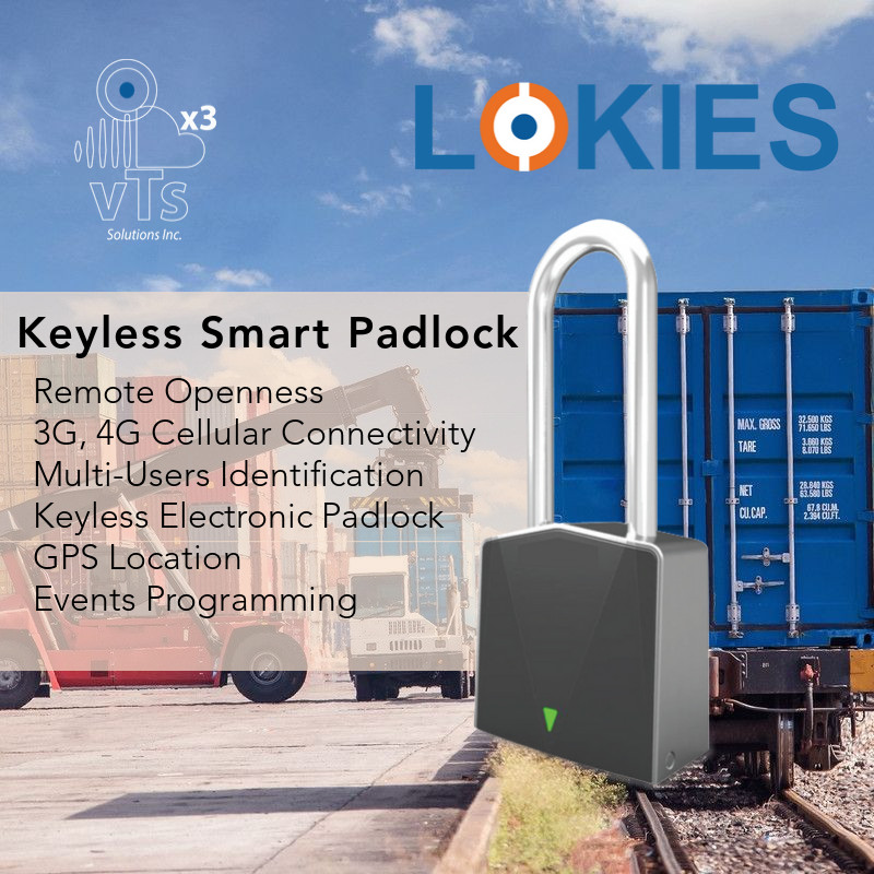 Lokies, Starcom, Security, Mobile Security, GPS, GPS Tracker, GPS Container Padlock, GPS Container Lock, GPS Lock, Keyless Padlock, Satellite GPS Padlock, Remote Openness Padlock, Electronic Padlock, Electronic Seal, Padlock with Flexible Shackle, Intelligent Padlock, Remote Openness Padlock, App lock, smart app lock, 360 security, Mobile Apps, Monitor Center, Smart Padlock without Keys, Unique Identifier, Unlock Padlock Remotely, Flxible Shackle with sensors detects cut and report instantly, Bluetooth, Battery BLE, Online support, Remote Cargo Tracking, Remote Fixed Assets Protection, Remote Protection for Cargo, Remote Openness Padlock for Truck, Remote Openness Padlock for Container, Security, Security Seal.