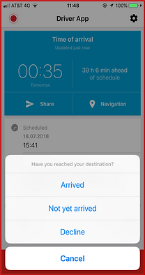 Route Planning and Driver Route Execution, Real time Tracking between Planning and Execution, Automatic times records, Geofencing base  on routes and deliveries, Control and Prevention of Loss basd on authorized routes